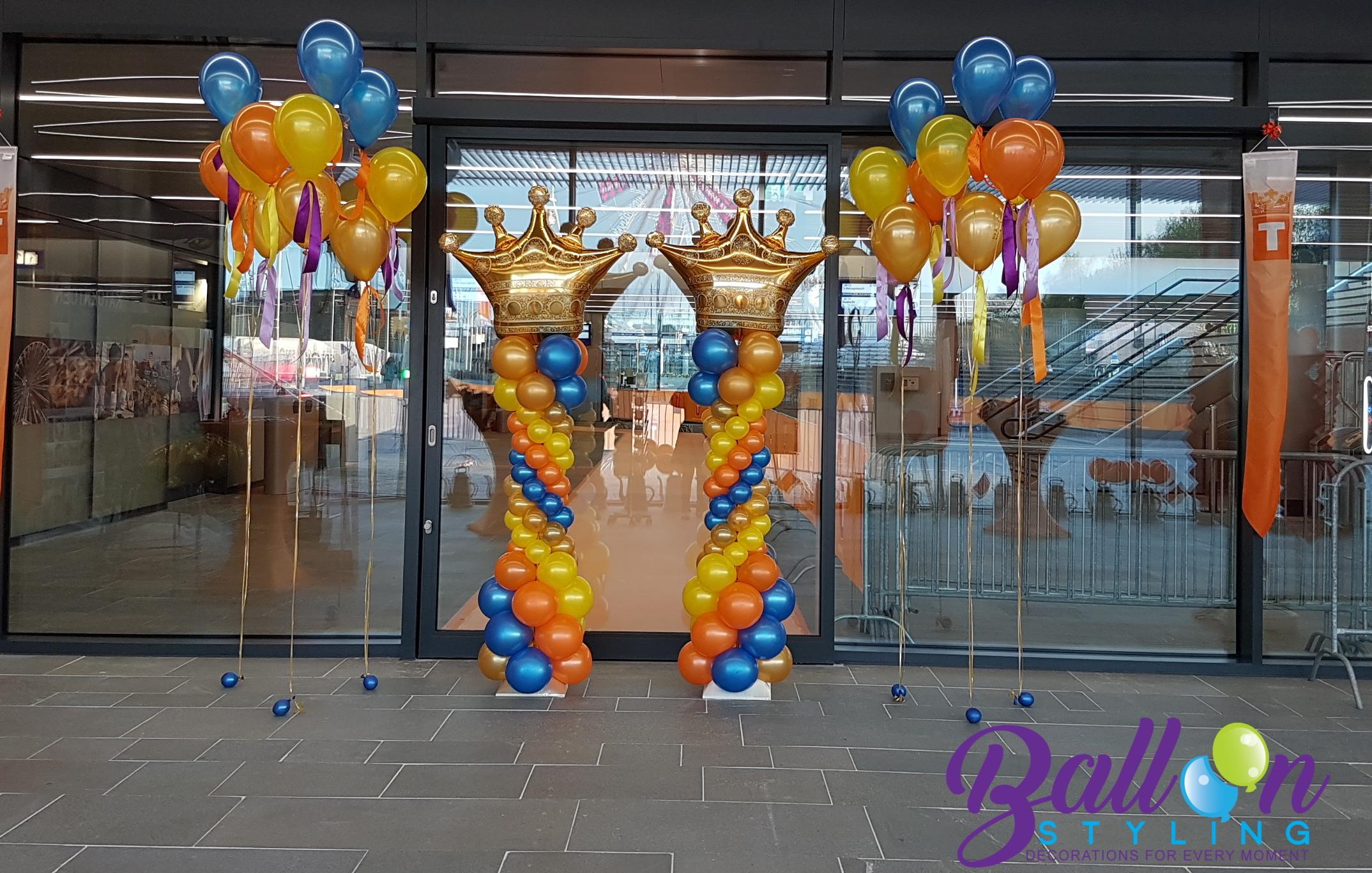 ballonnenpilaar ballonnenpilaren Koningsdag feest verjaardag trouwerij evenement communie Brabant Tilburg Reeshof