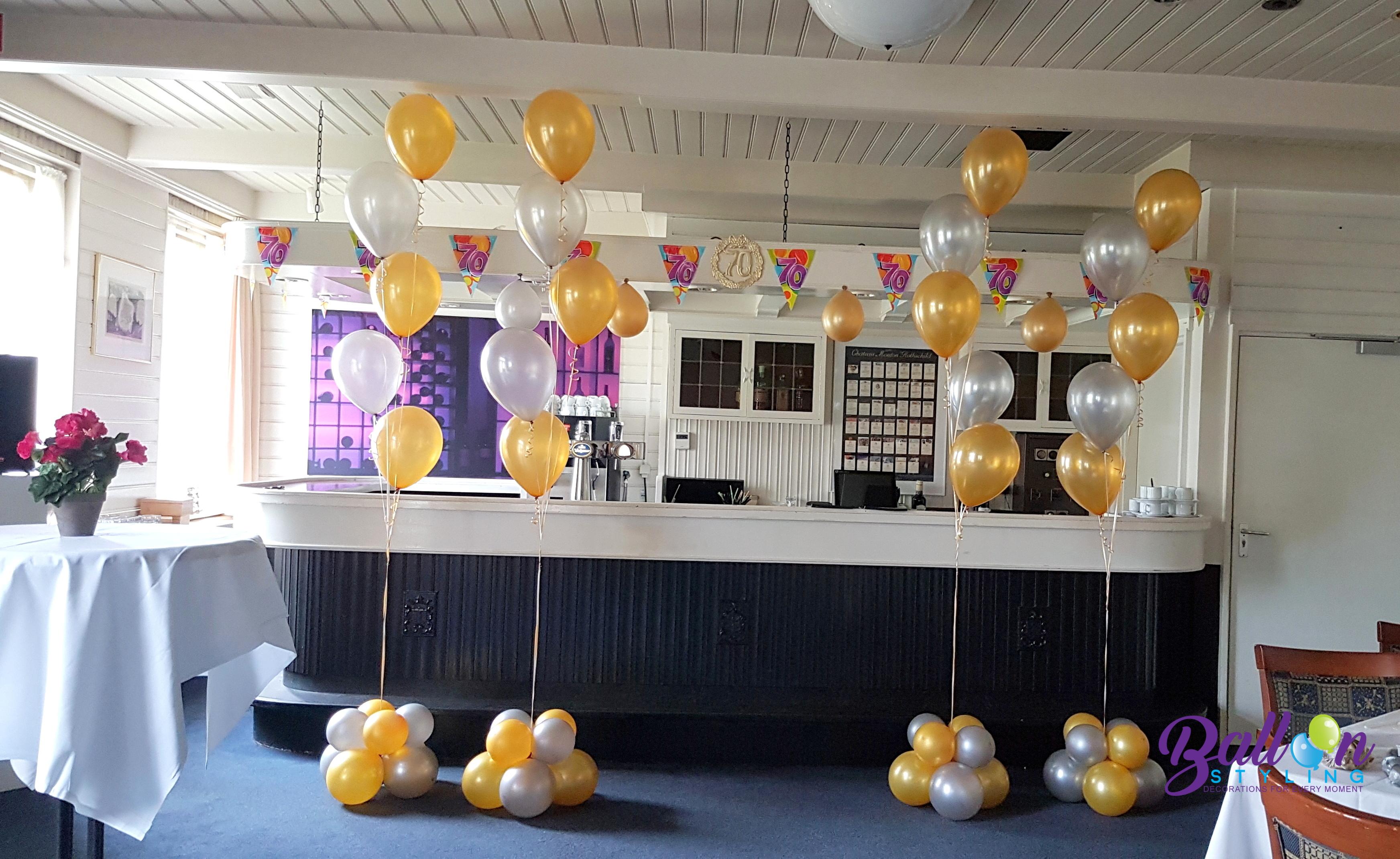heliumballonnen tafeldecoratie gronddecoratie 50 jarig jubileum Brabant Tilburg Reeshof