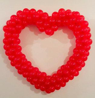 ballonnenhart hart op frame bruiloft trouwerij feest Brabant Tilburg Reeshof