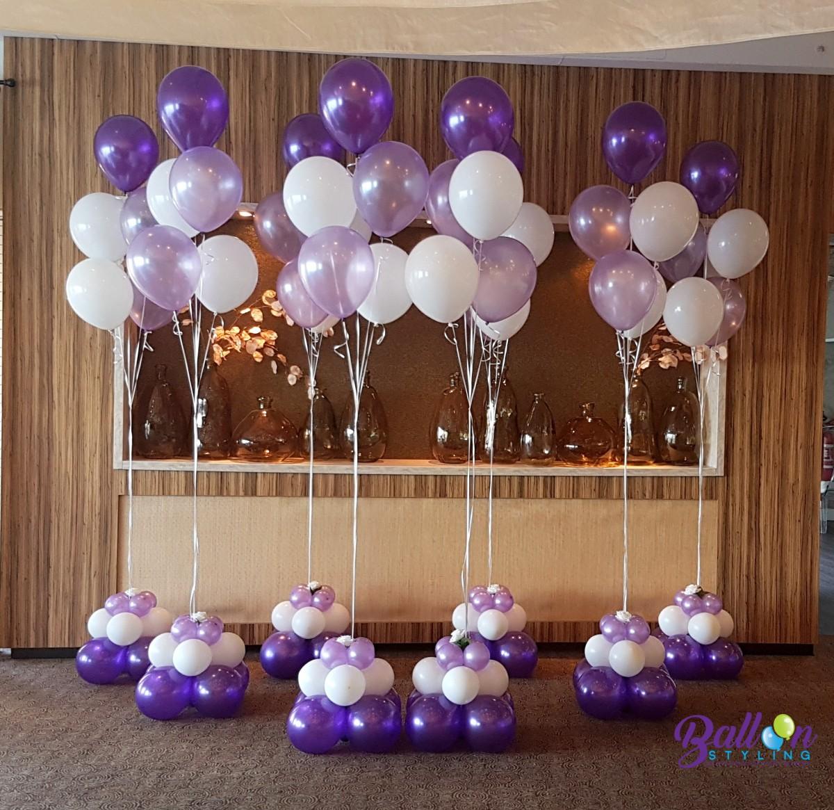 Balloon Styling heliumballonnen heliumballon gronddecoratie met een zijden roos