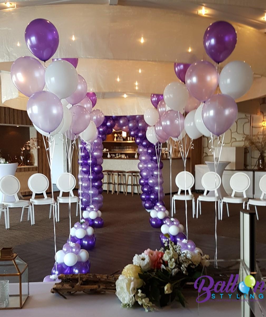 Heliumballonnen ballontrossen gronddecoratie vloerdecoratie Balloon Styling Tilburg