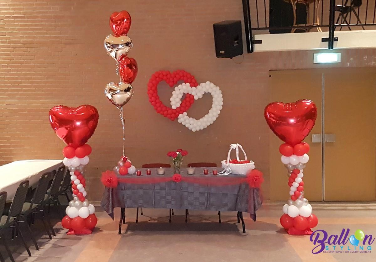 luxe ballonpilaar ballonnenpilaren Balloon Styling Tilburg