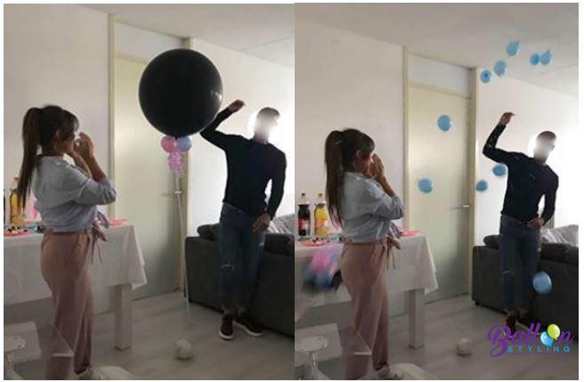 Balloon Styling gender reveal geslachtsbepaling tafeldecoratie he or she bekendmaking Brabant Tilburg Reeshof