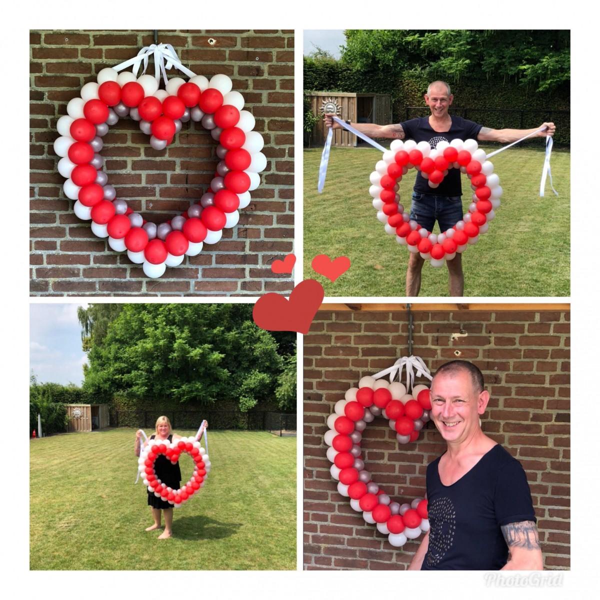 Balloon Styling ballonnenhart op frame Brabant Tilburg Reeshof