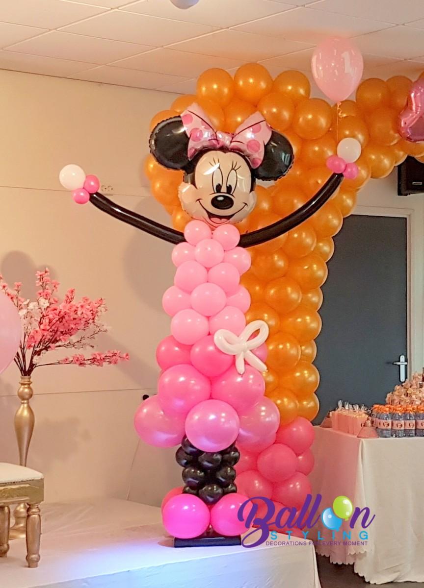 Minnie Mouse ballonnendecoratie Balloon Styling Tilburg