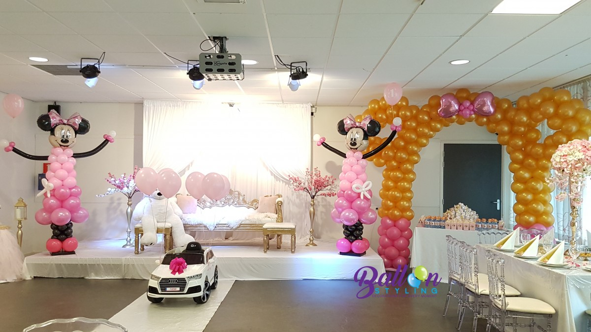 Minnie Mouse ballonnenboog ballonpop heliumballon