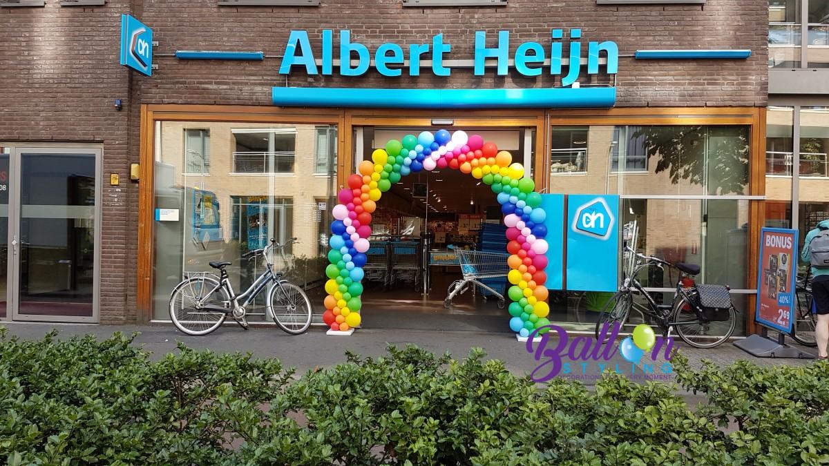 Balloon Styling Tilburg ballonnenboog regenboog