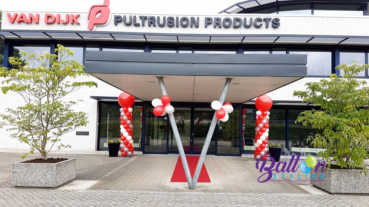 Balloon Styling Tilburg ballonnenpilaar ballonpilaar met topballon
