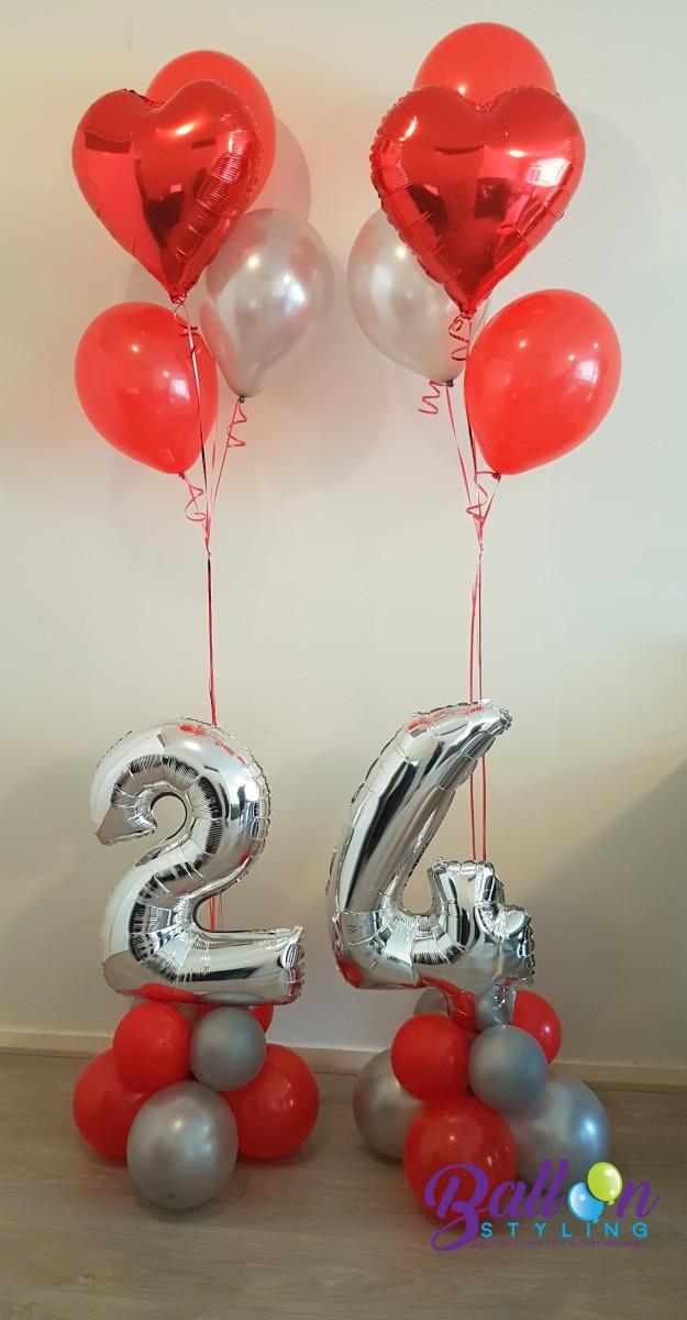 Balloon Styling ballonnendecoratie ballonnencijfers 24 Brabant Tilburg Reeshof