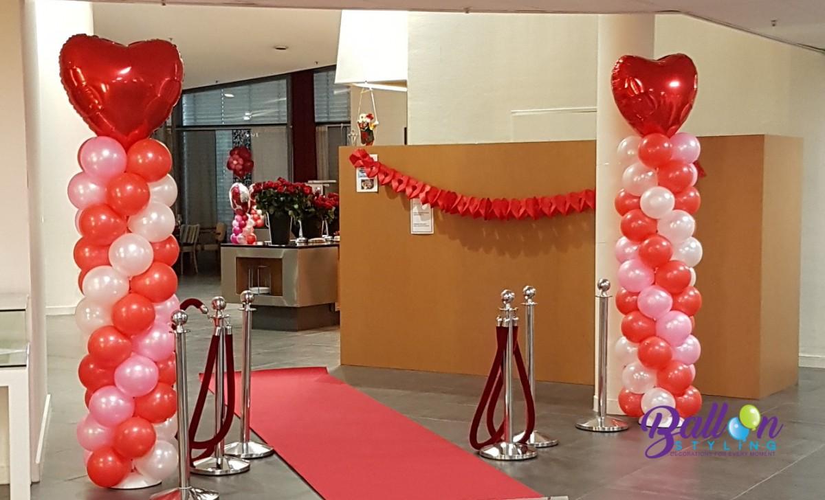 Balloon Styling Tilburg ballonnenpilaar ballonpilaar Valentijn