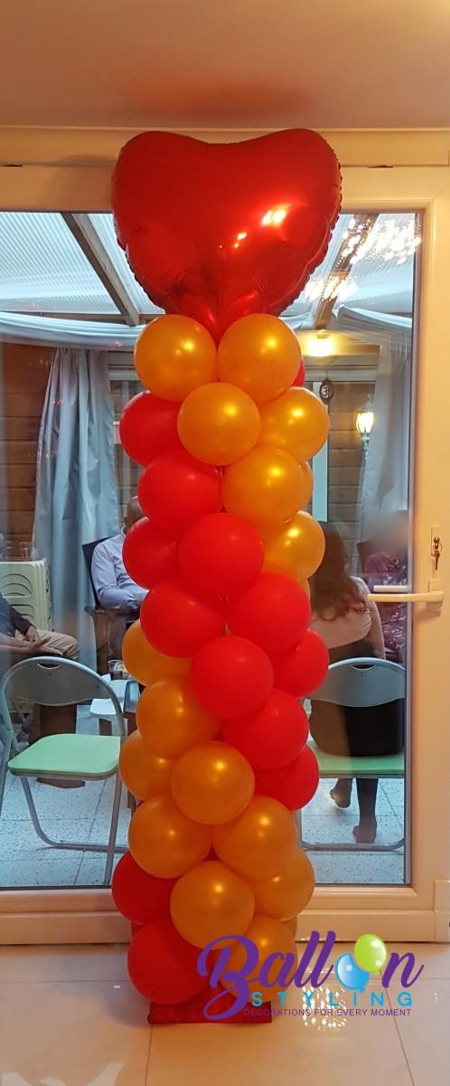 Balloon Styling Tilburg ballonnenpilaar ballonpilaar huwelijk trouwerij