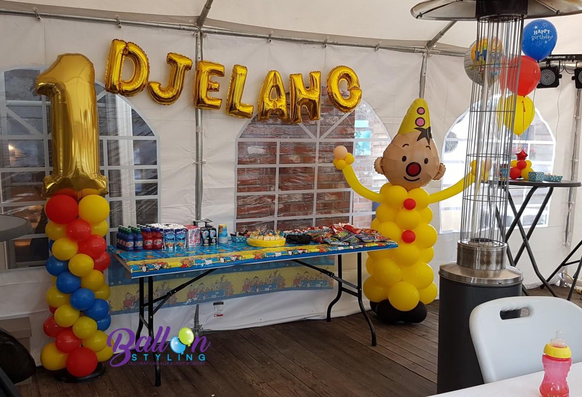 Balloon Styling Tilburg ballonnenpilaar ballonpilaar Bumba cijferballon