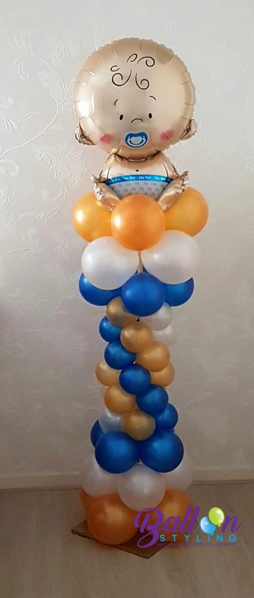 Balloon Styling Tilburg ballonnenpilaar ballonpilaar babyshower baby