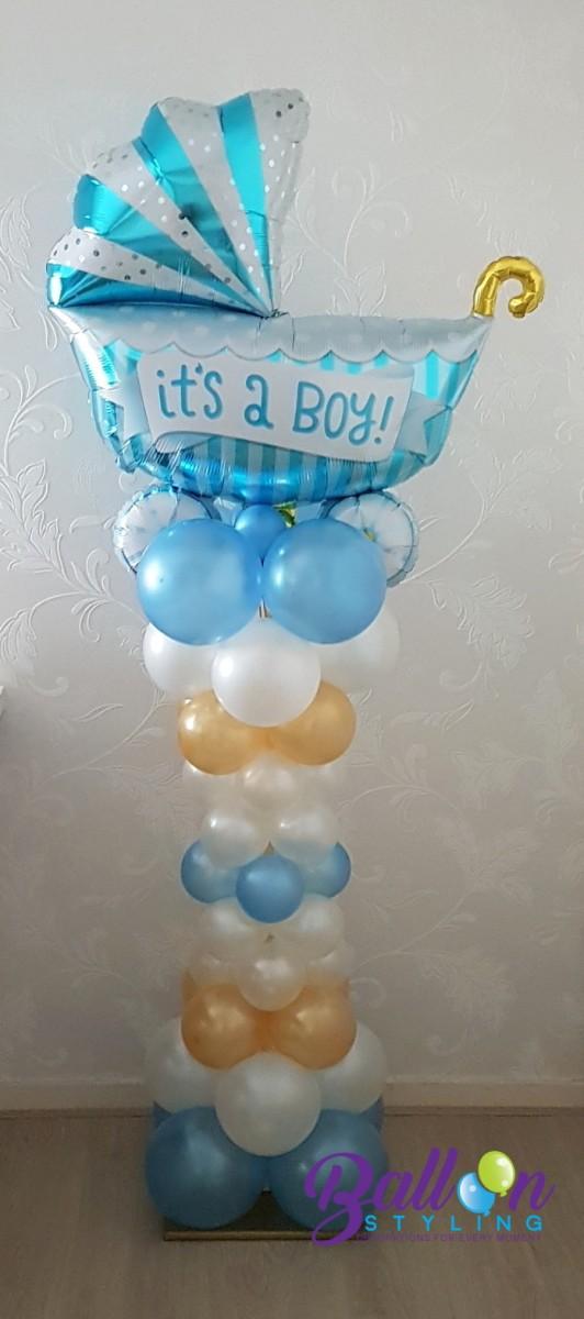 Balloon Styling Tilburg ballonnenpilaar ballonpilaar babyshower wieg