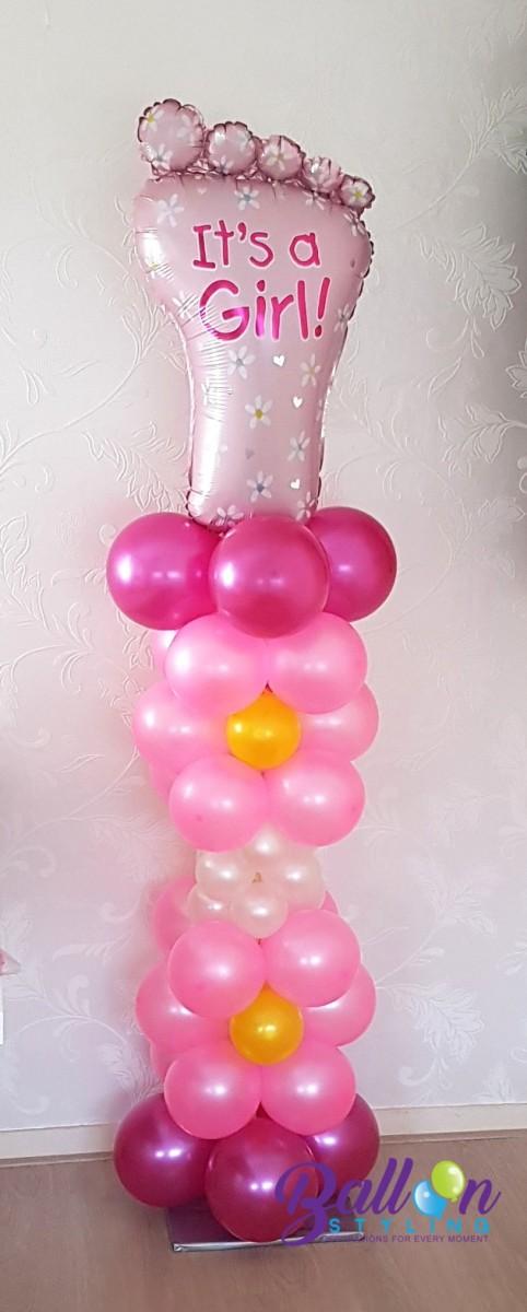 Balloon Styling Tilburg ballonnenpilaar ballonpilaar babyshower voet