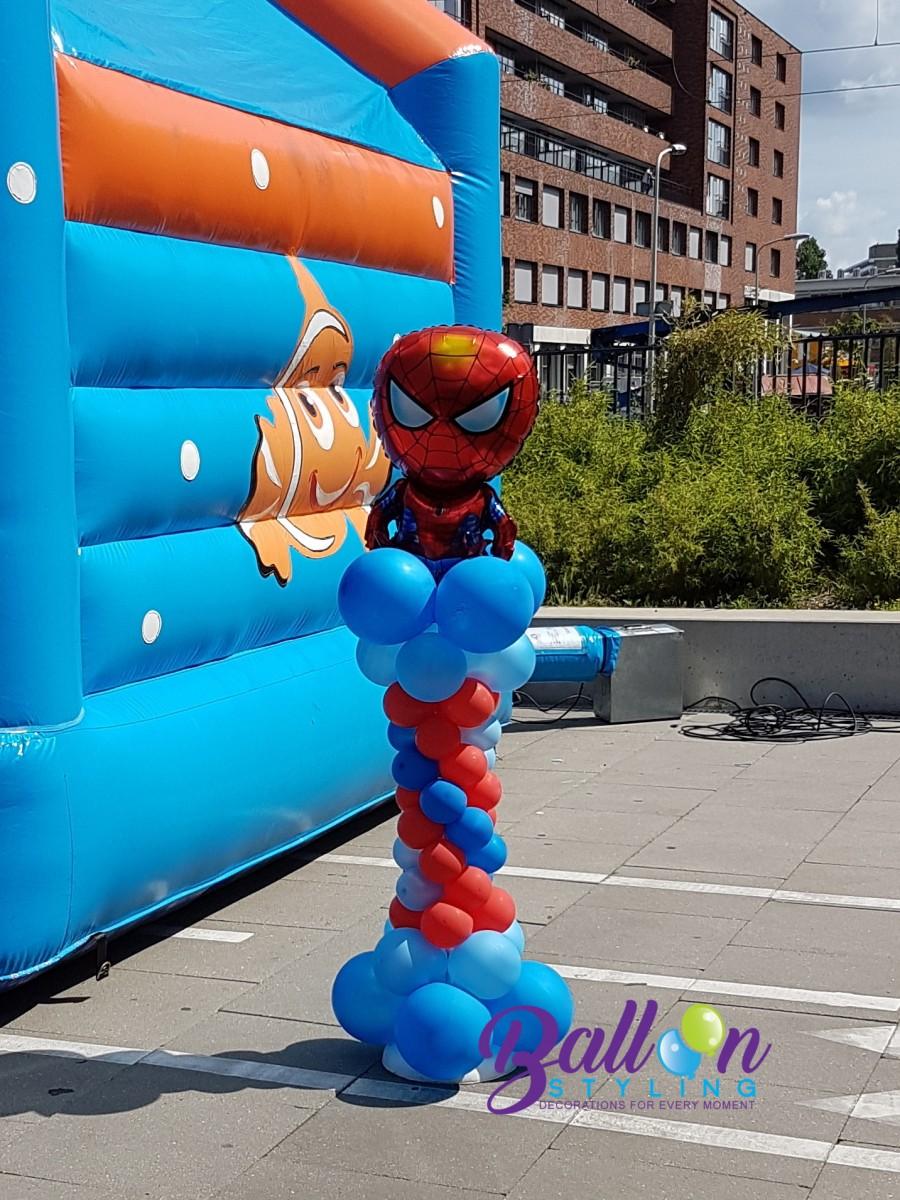 Balloon Styling Tilburg ballonnenpilaar ballonpilaar Spiderman