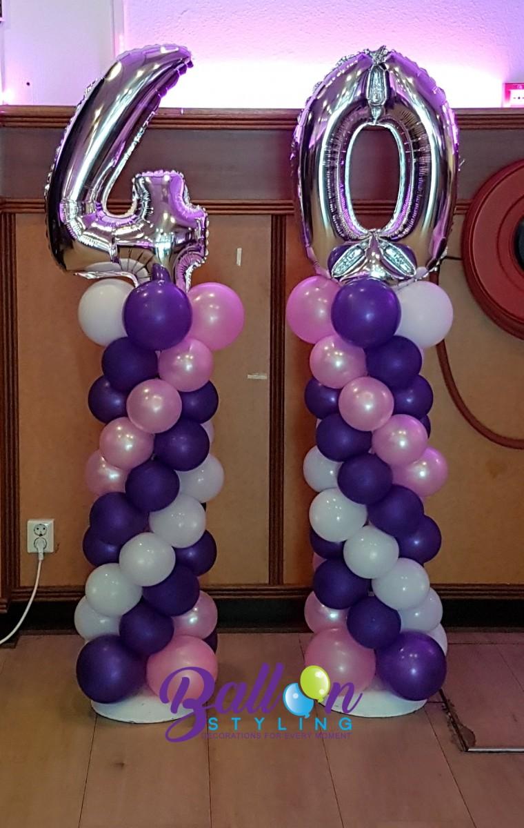 Balloon Styling Tilburg ballonnenpilaar ballonpilaar cijferballon