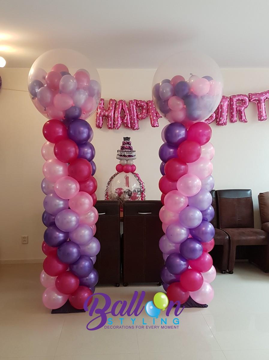 Balloon Styling Tilburg ballonnenpilaar ballonpilaar verjaardag
