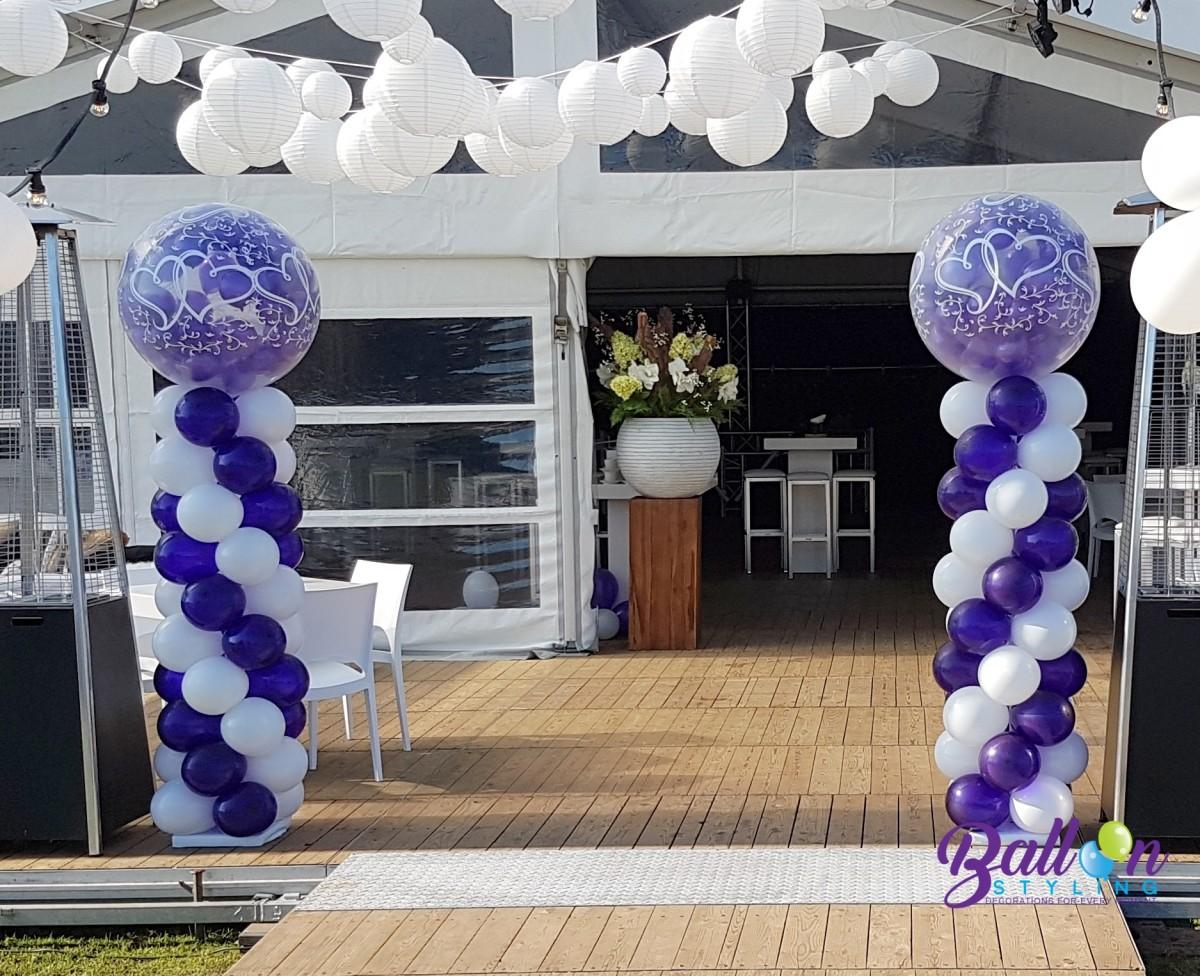 Balloon Styling Tilburg bruiloft bruidsdecoratie ballonnenpilaren
