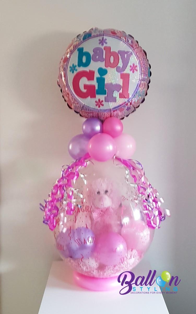 Balloon Styling Cadeau In Een Ballon Geboorte Meisje Baby