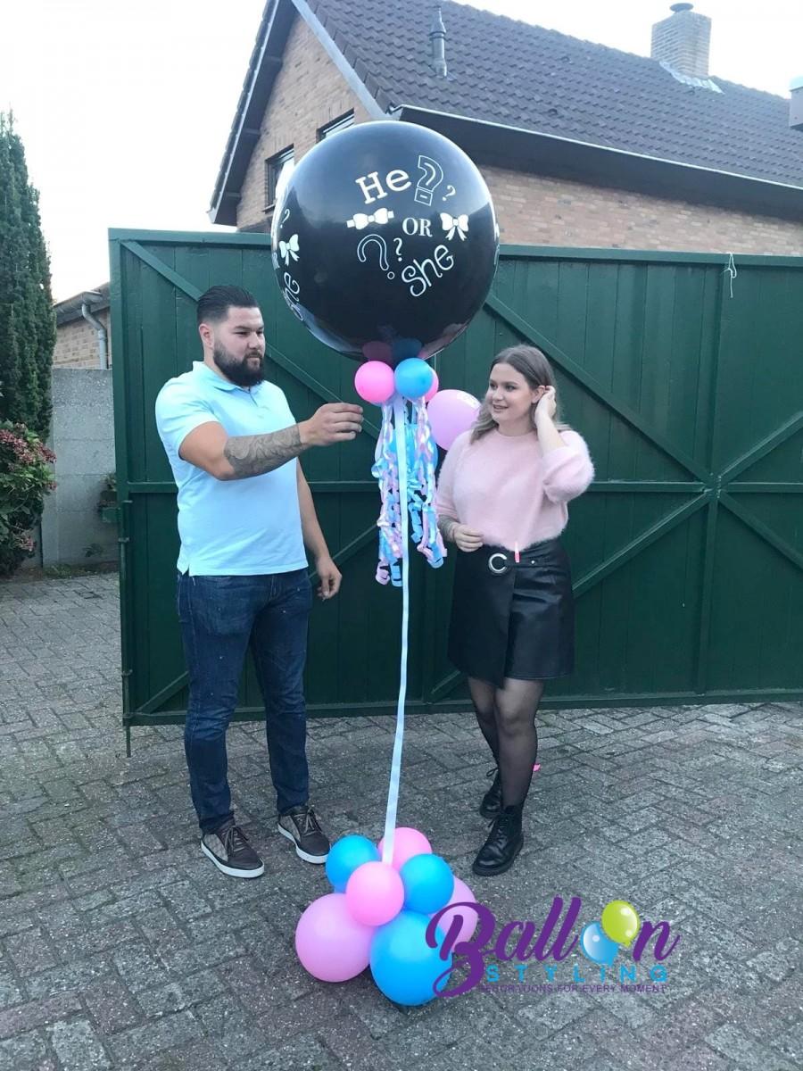 Balloon Styling gender reveal geslachtsbepaling meisje Brabant Tilburg Reeshof