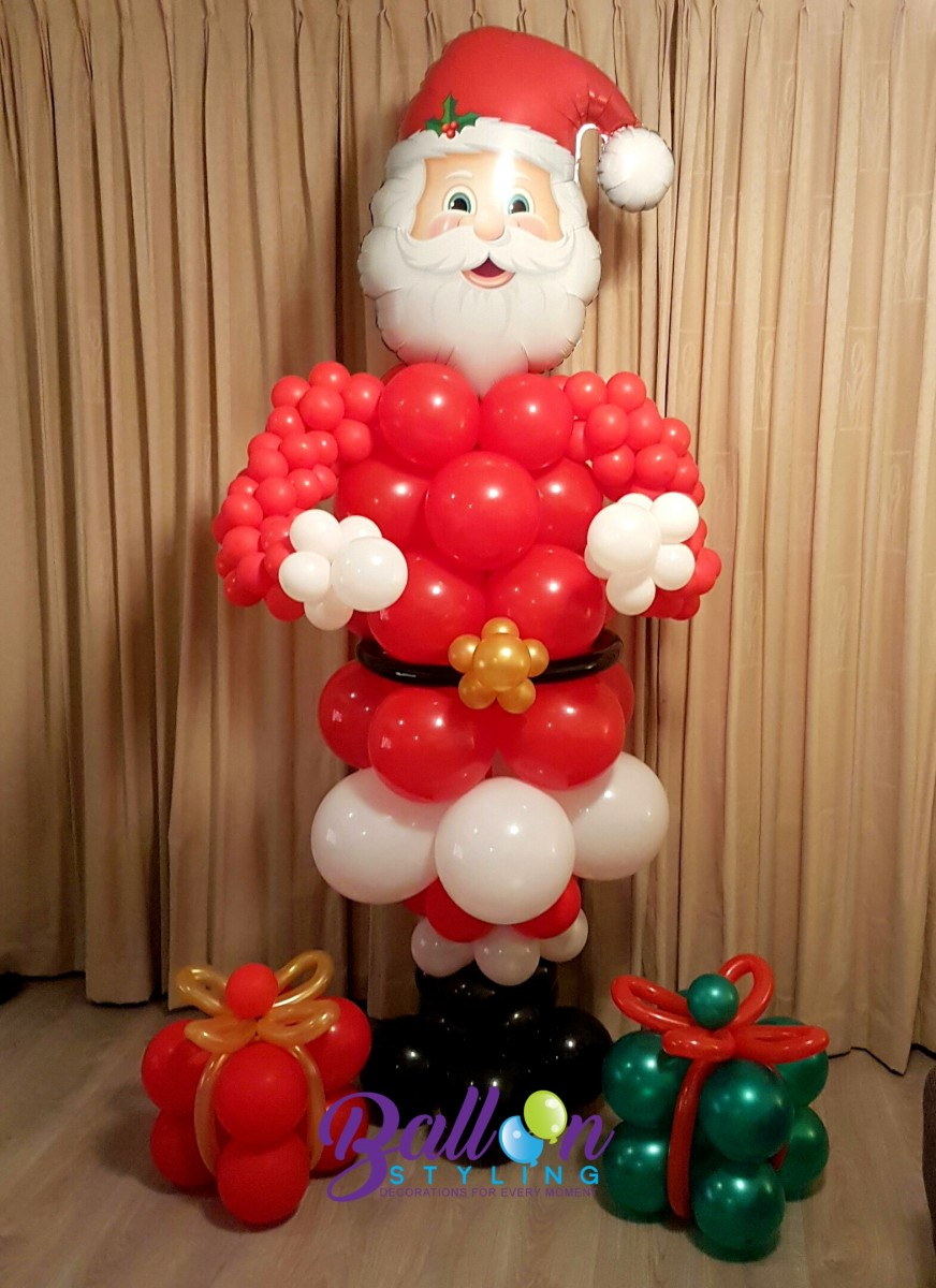 Balloon Styling kerstman ballonnendecoratie Brabant Tilburg Reeshof