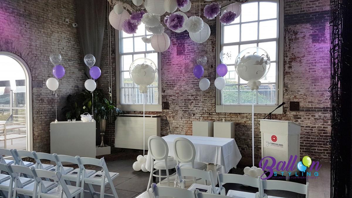 Balloon Styling Tilburg bruiloft bruidsdecoratie ballonnenpilaren heliumballonnen tafeldecoratie