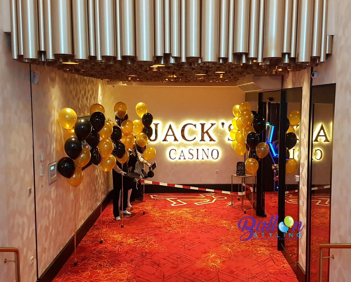 Balloon Styling Tilburg ballonnendecoratie heliumballonnen gronddecoratie Jack's Casino Brabant Tilburg
