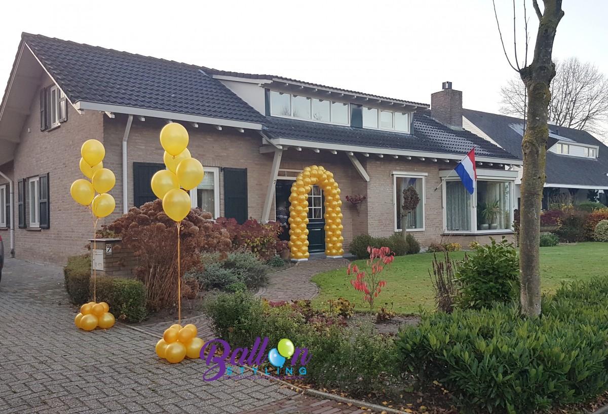 Balloon Styling Tilburg 50 jarig huwelijk gouden bruiloft jubileum