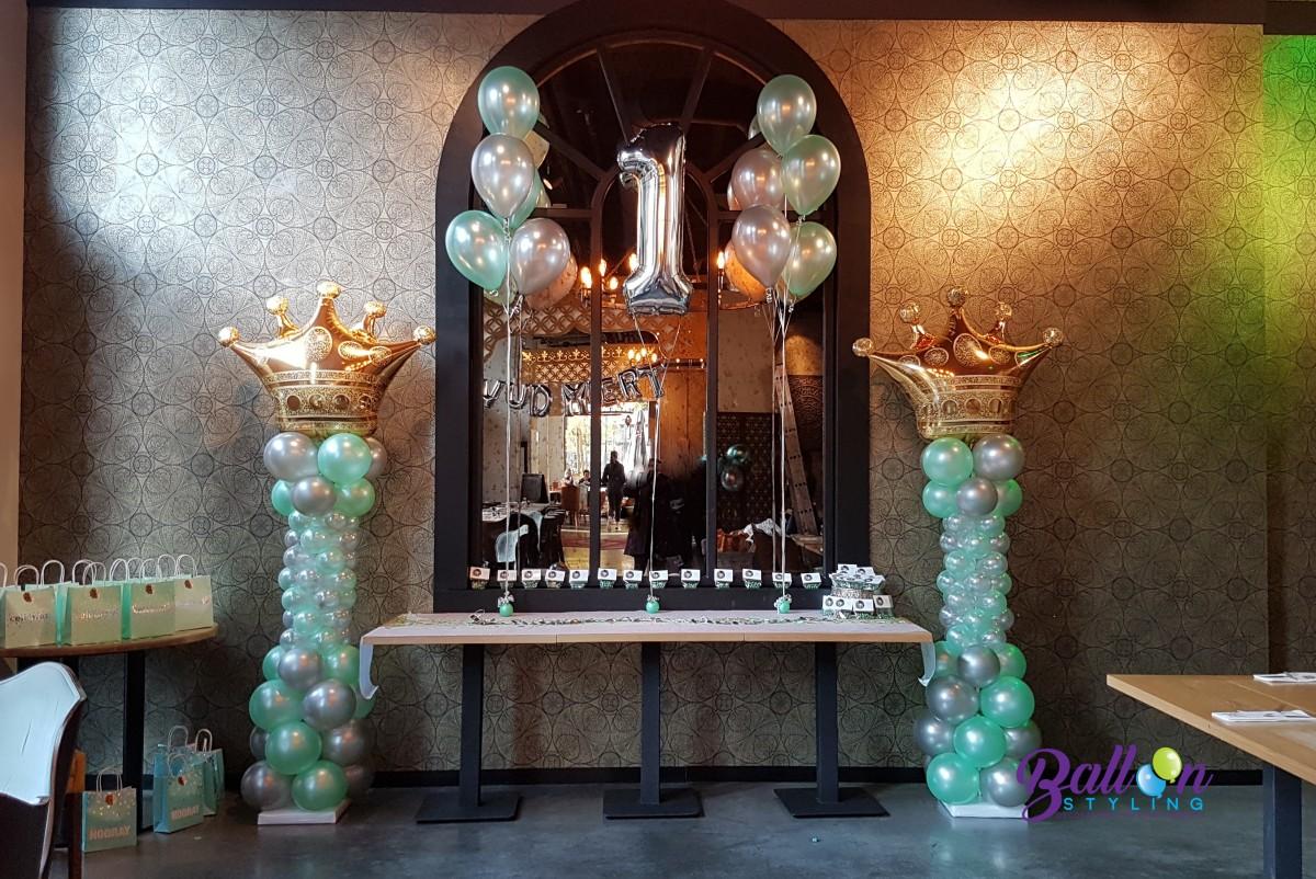 Balloon Styling Tilburg balloncijfer ballonnenpilaar ballonpilaar 1 jarige verjaardag restaurant Masal Tilburg1
