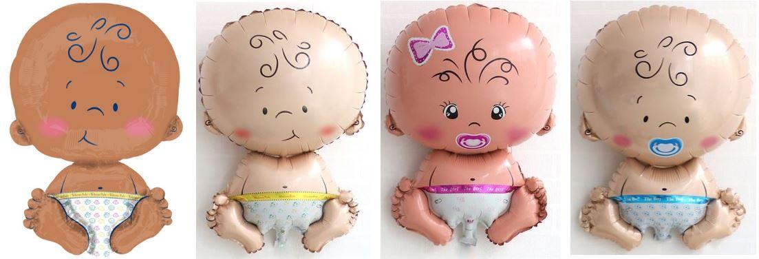 Folieballon baby verkrijgbaar met opdruk: welcome baby - the girl of the boy