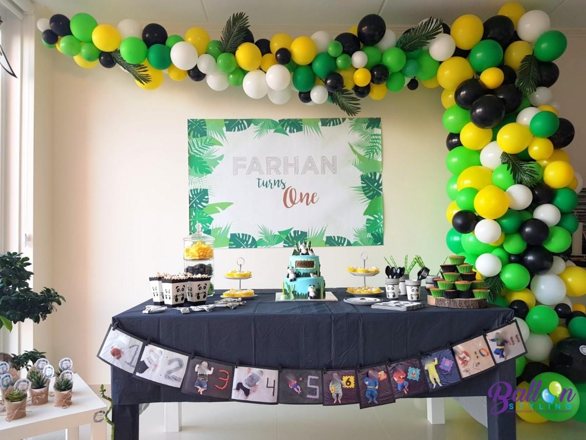 Organic ballonnenslinger junglethema