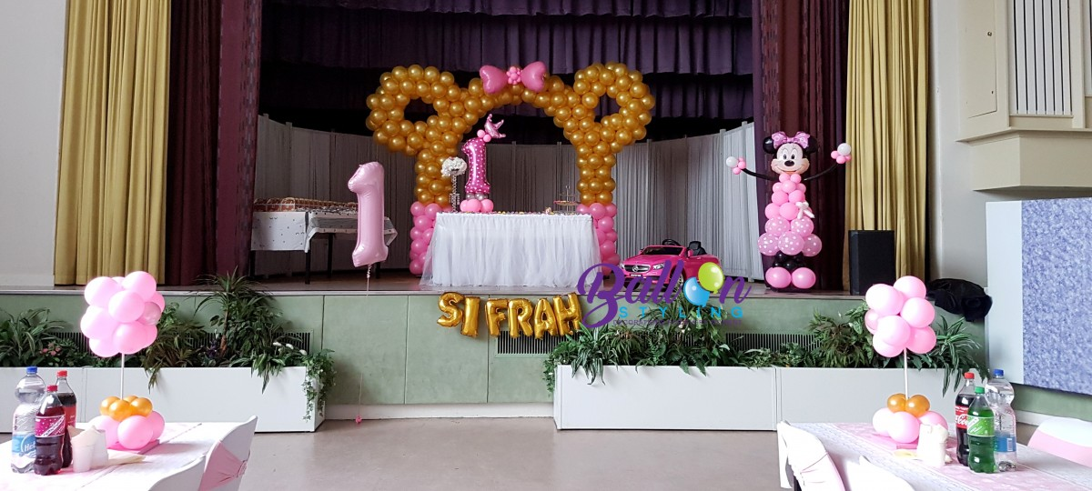 Balloon Styling Minnie Mouse ballonnenboog