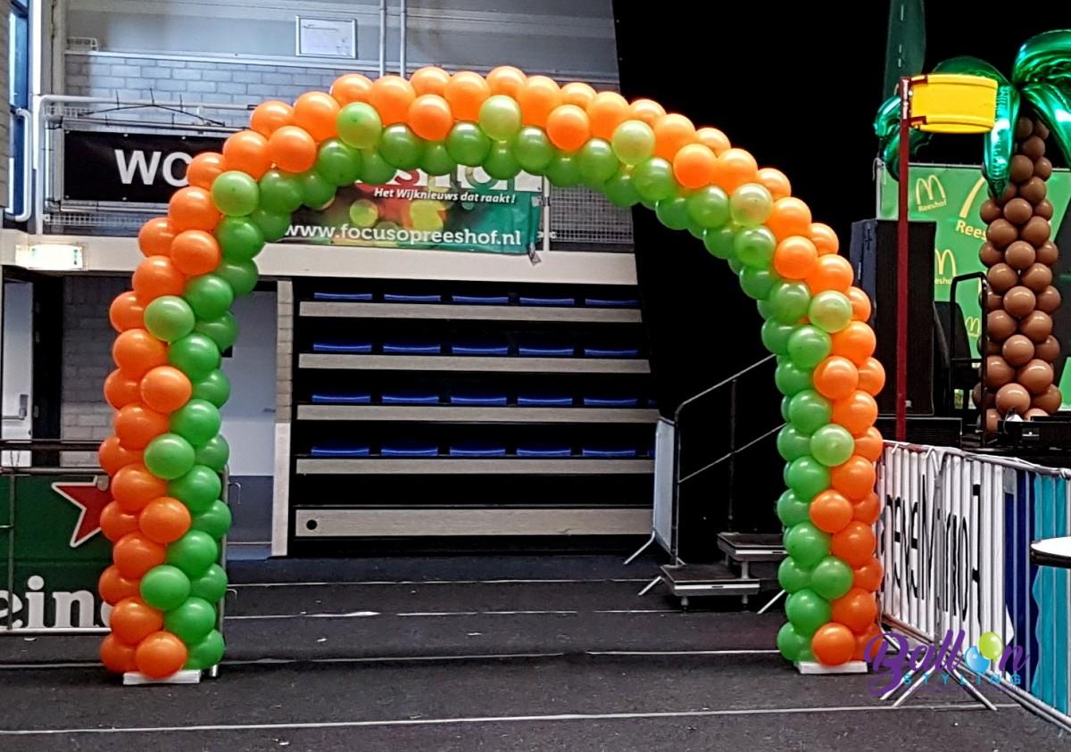 Balloon Styling luxe ballonnenboog ballonnendecoratie carnaval