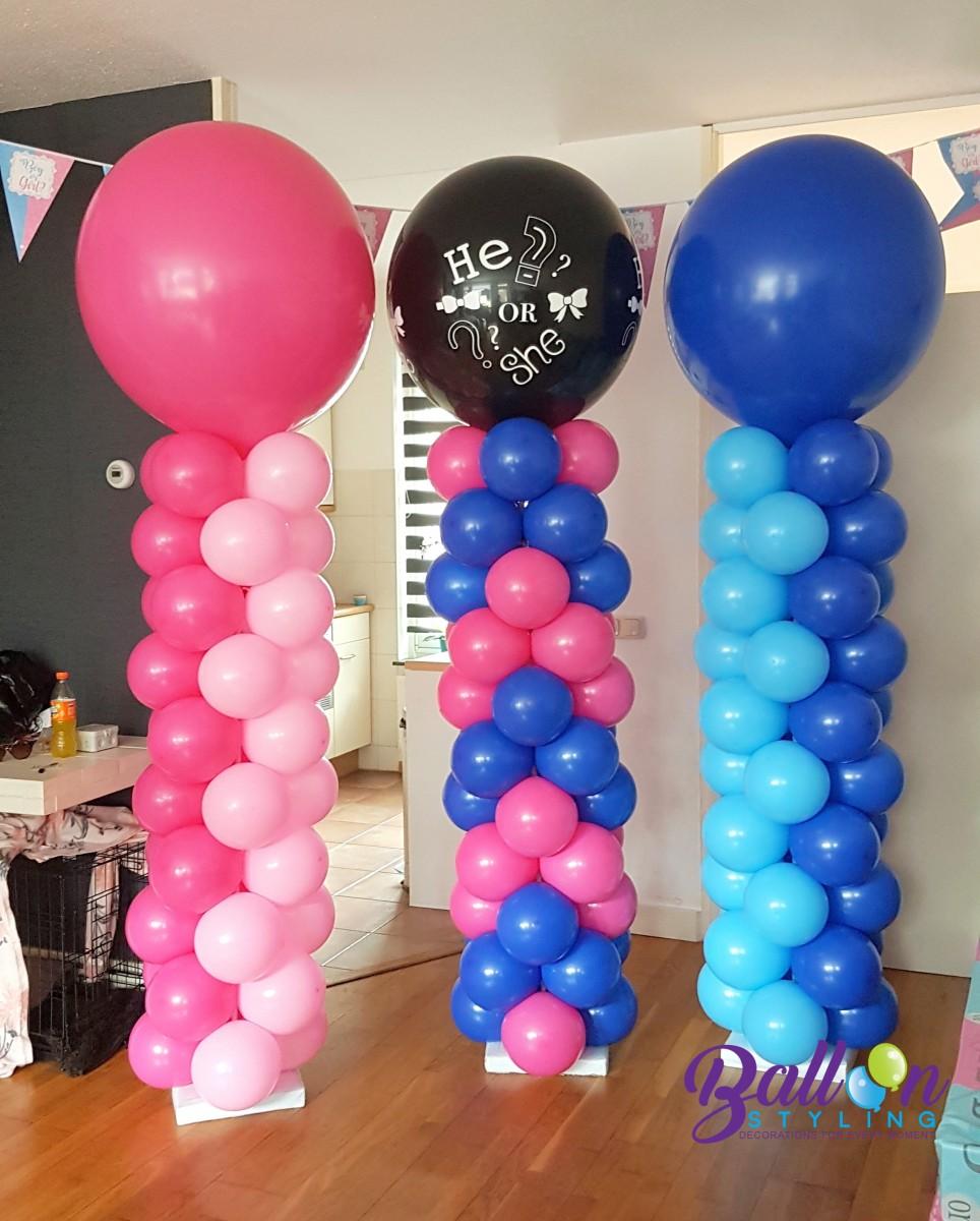Balloon Styling gender reveal ballon bekendmaking geslacht geslachtsbepaling