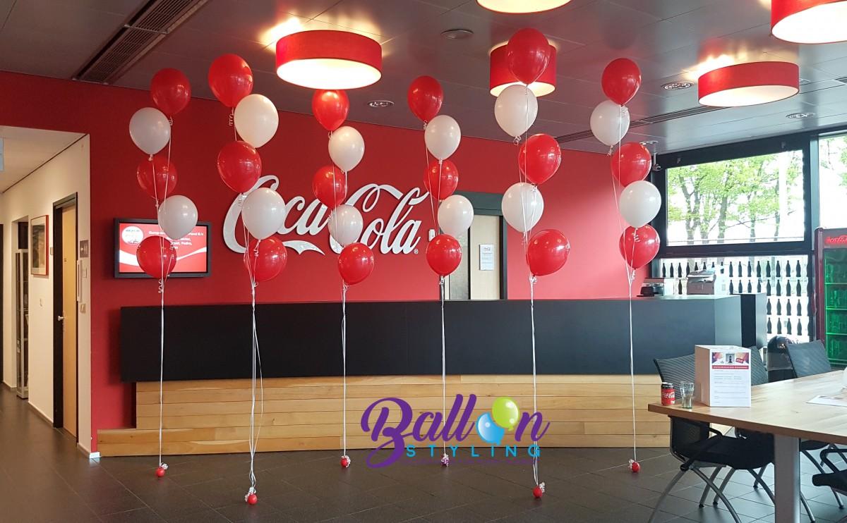 Balloon Styling Tilburg Brabant Coca Cola trossen heliumballonnen rood en wit (1)