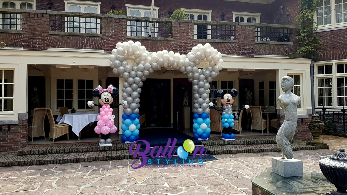 Balloon Styling Tilburg Reeshof ballonnenboog Minnie Mouse Mickey Mouse
