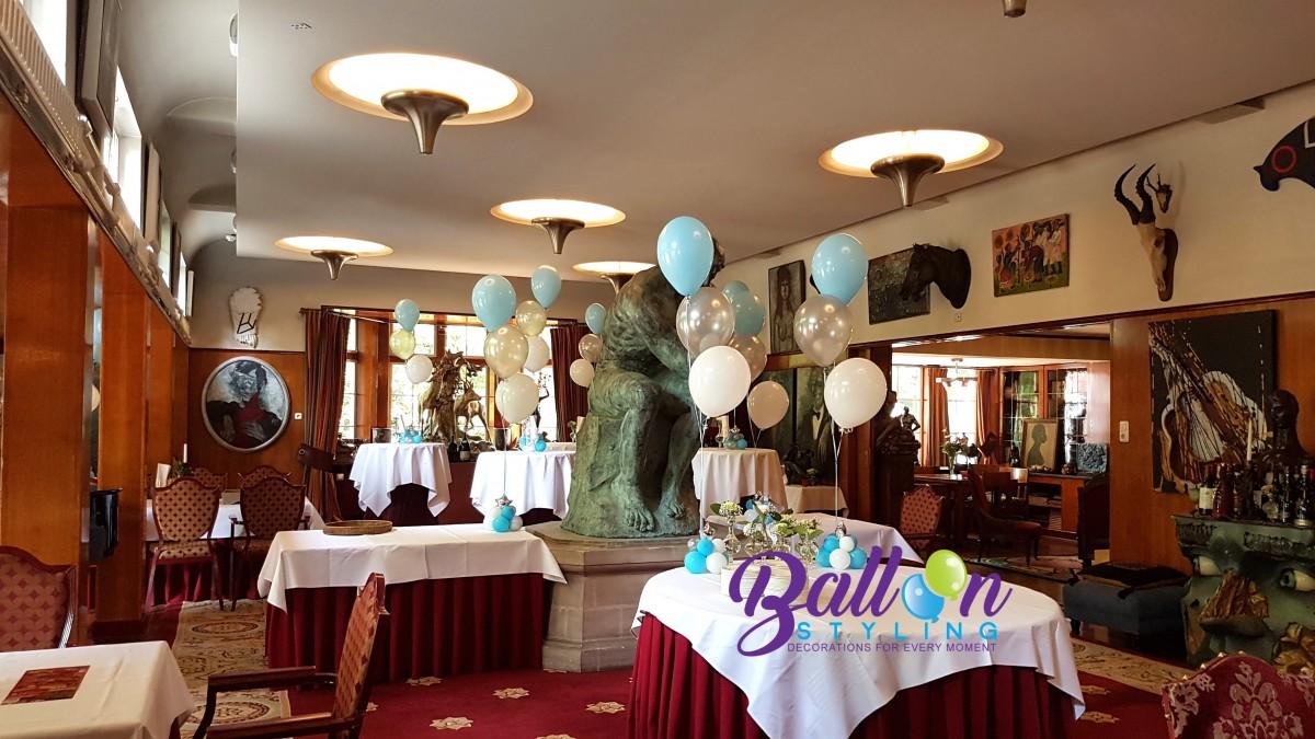 Balloon Styling Tilburg Reeshof luxe tafeldecoraties met een zilveren folieballon ster