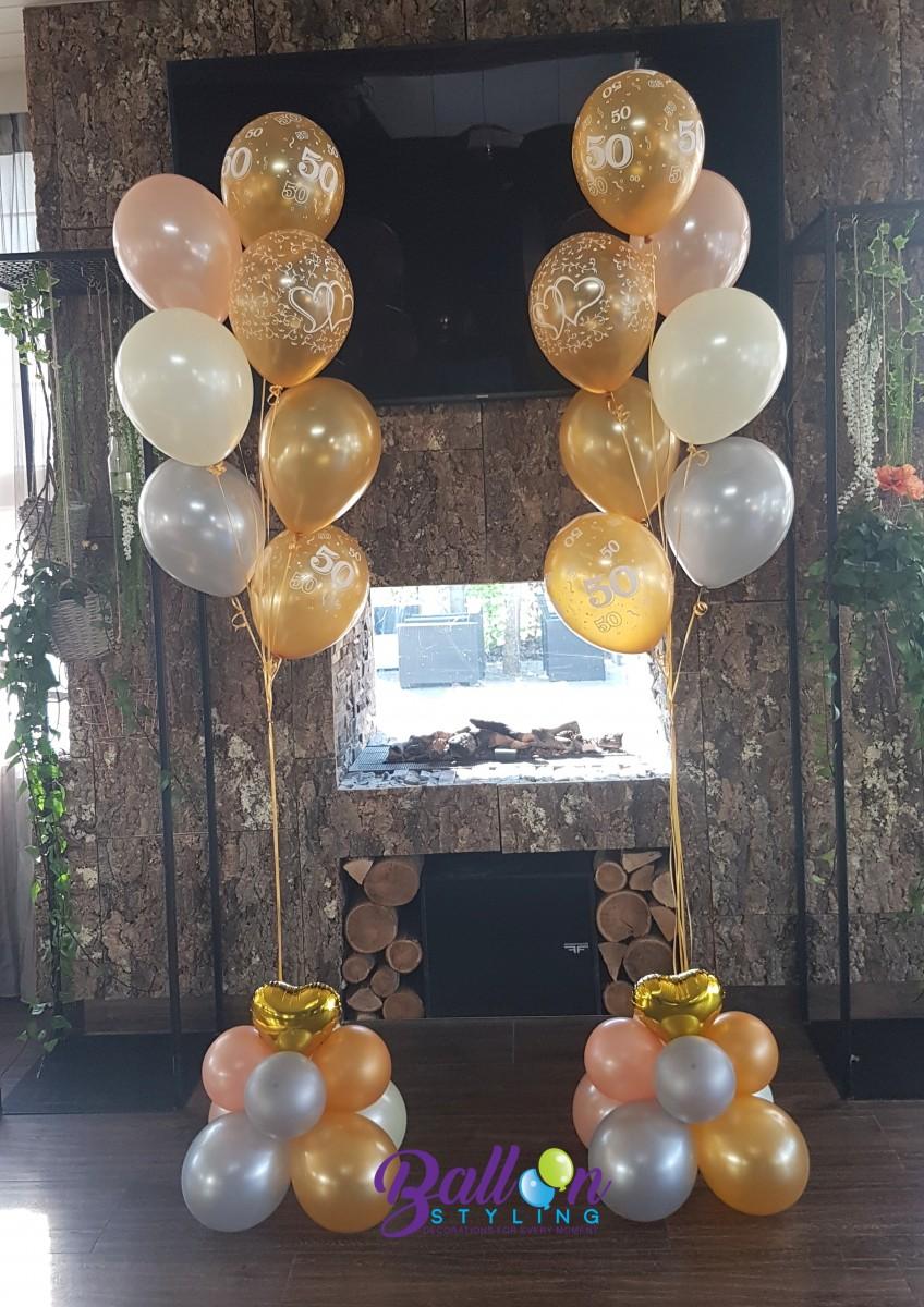 Balloon Styling heliumballonnen gronddecoraties 50 jarig huwelijk