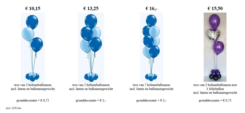 Balloon Styling Tilburg luxe trossen heliumballonnen tafeldecoratie gronddecoratie folieballonnen