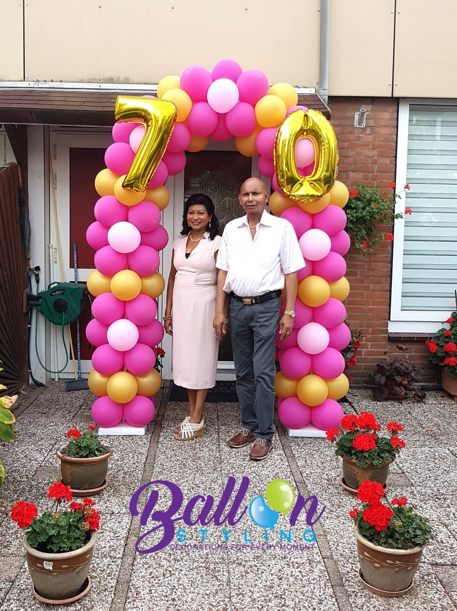 Balloon Styling Tilburg ballonnenboog ballonboog 70 jaar verjaardag