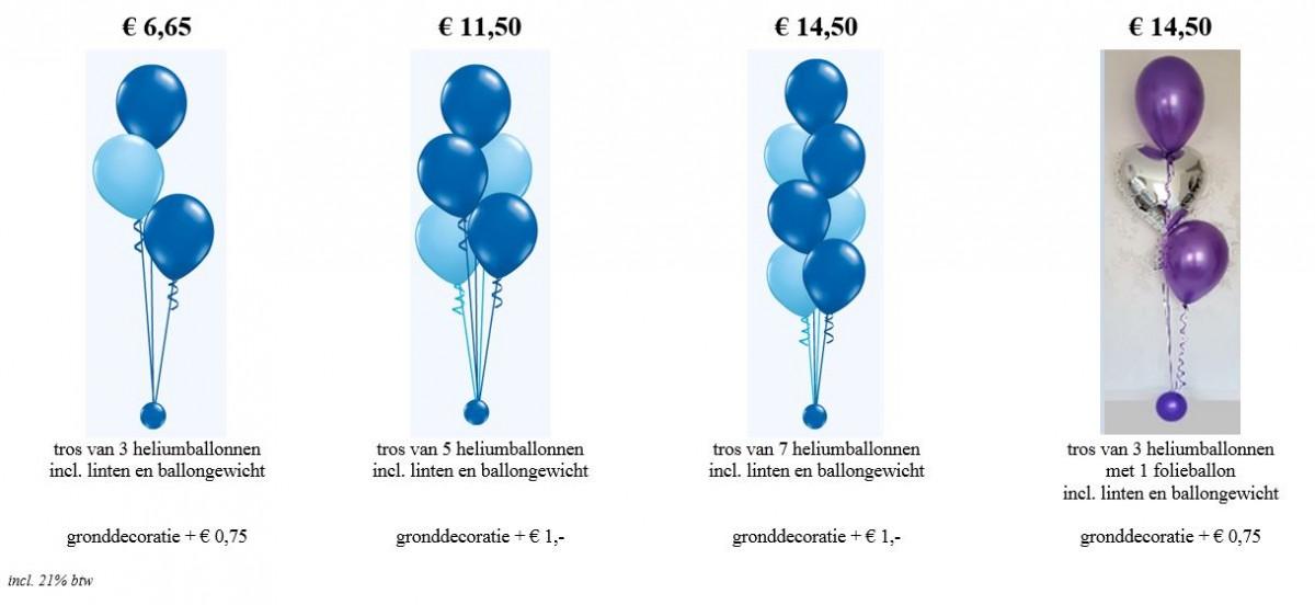 Balloon Styling standaard tafeldecoratie gronddecoratie vloerdecoratie heliumballonnen tafelstukje heliumballonnen Tilburg