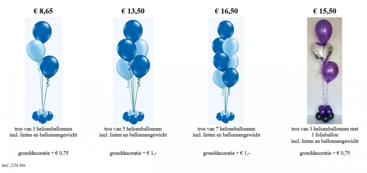 Balloon Styling standaard tafeldecoratie gronddecoratie vloerdecoratie heliumballonnen tafelstukje tros heliumballonnen Tilburg