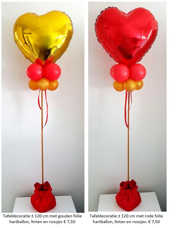 Balloon Styling tafeldecoratie tafelstuk groot hart ster latex folieballon doorzichtige ballon zijden rozen ballonnen Tilburg