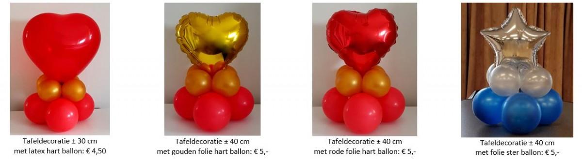 Balloon Styling tafeldecoratie tafelstuk hart ster latex folieballon ballonnen Tilburg