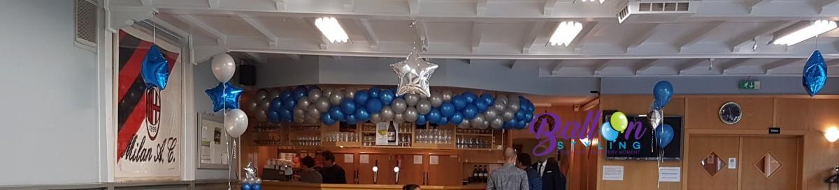 Balloon Styling Tilburg ballonnenslinger-Neerpelt-boven-de-bar ballonnen Tilburg (1)