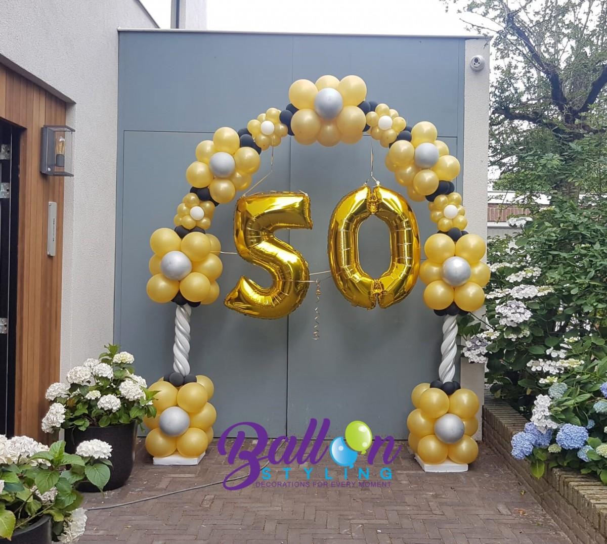 Balloon Styling Tilburg ballonnenboog 50 jaar Sara verjaardag ballonnen Tilburg - kopie
