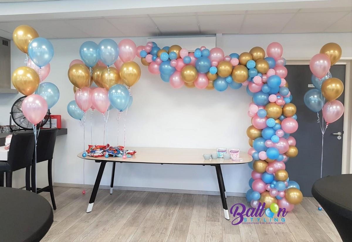Balloon Styling Tilburg ballonnenslinger heliumballonnen gronddecoraties tafeldecoraties gender reveal geslachtsbepaling he or she ballonnen Tilburg