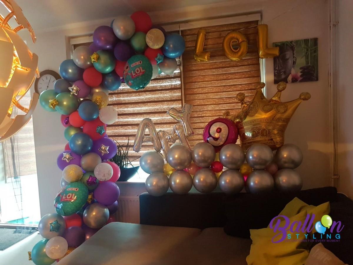 Balloon Styling Tilburg organic ballonnenslinger kinderfeest verjaardag chrome ballonnen Tilburg (2)