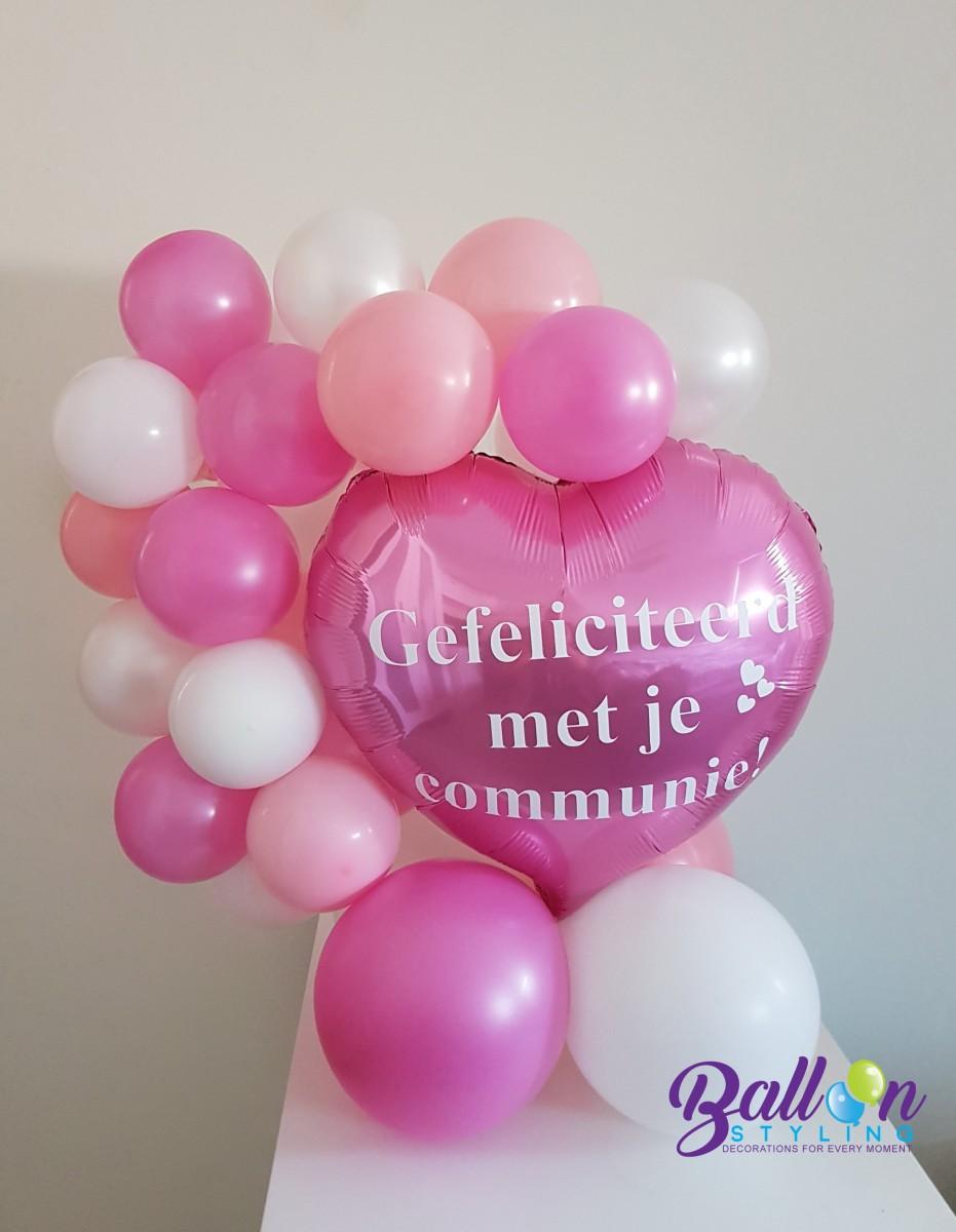 Balloon Styling Tilburg bedrukte ballon hart communie ballonnen Tilburg2 (1)